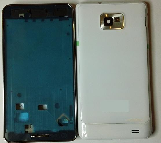 Samsung Galaxy S2 i9100 White/Black Housing Middle Board Back Cover