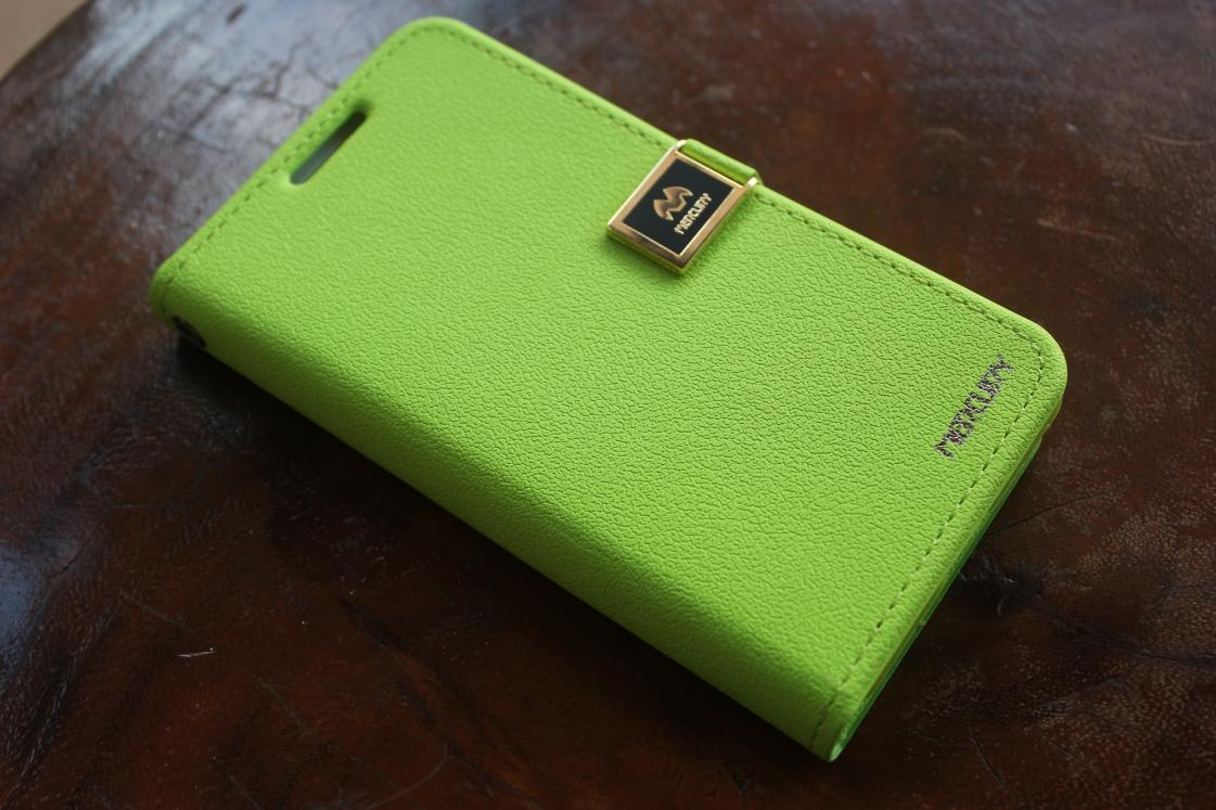 Samsung Galaxy S2 Lime Leather Mercury Case imported from Korea