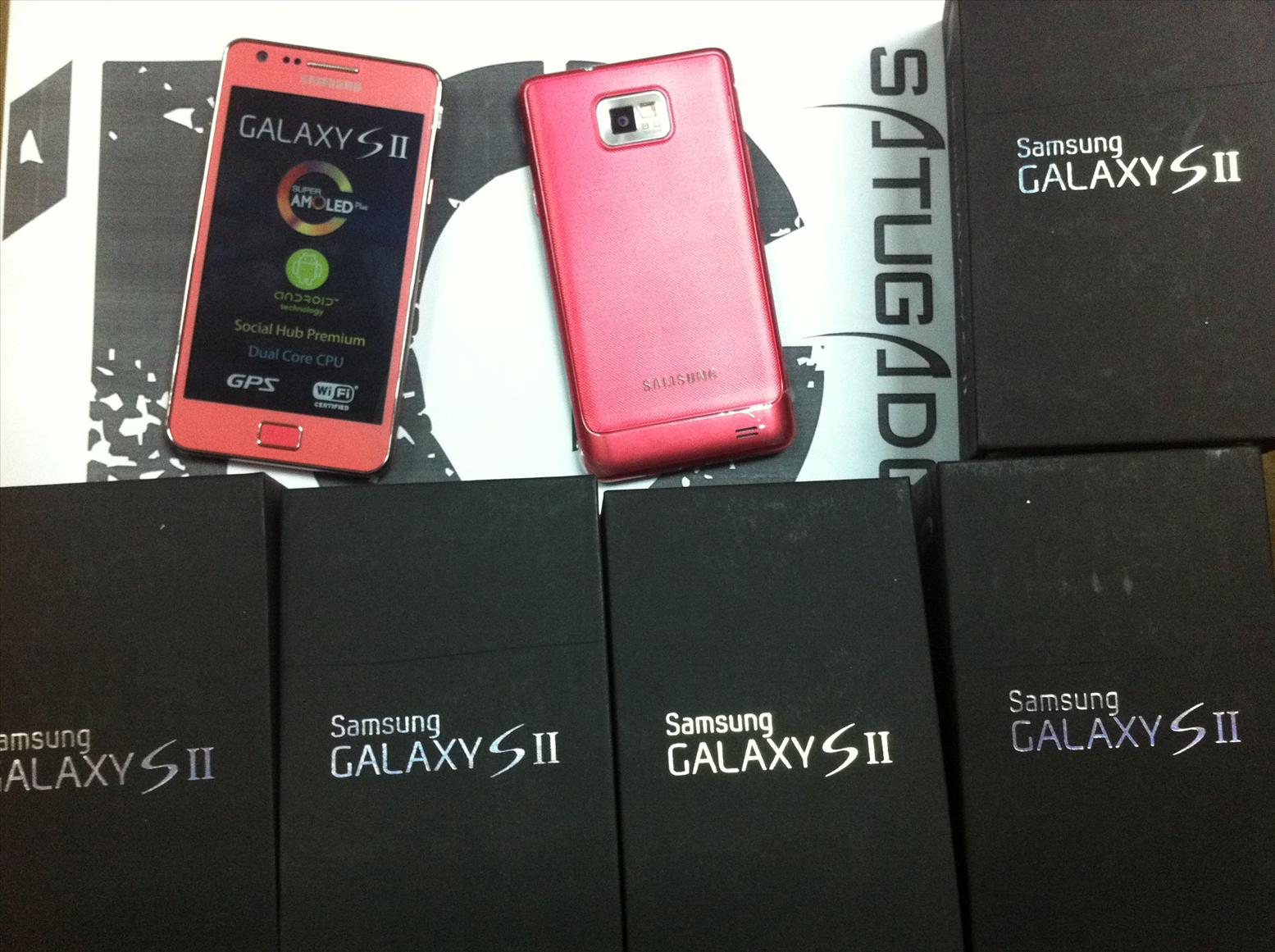 Samsung Galaxy S2 PINK - limited edition, new unit, 24 months warranty