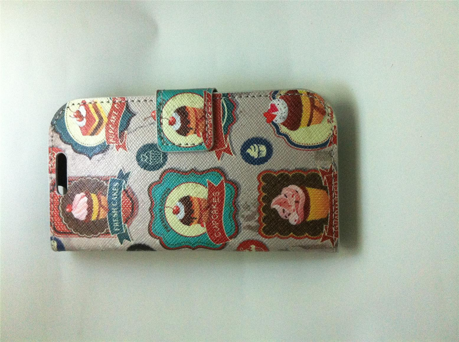 Samsung Galaxy S3 i9300 Open Book Case Cupcake theme