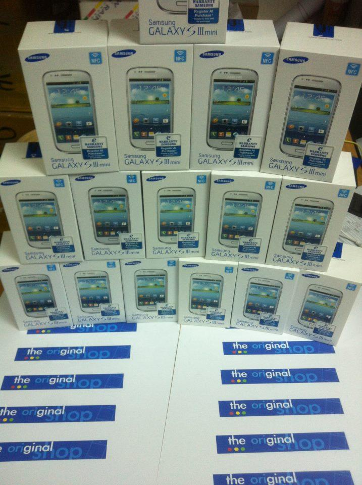 SAMSUNG GALAXY S3 MINI ORIGINAL SET WARRANTY BY SAMSUNG