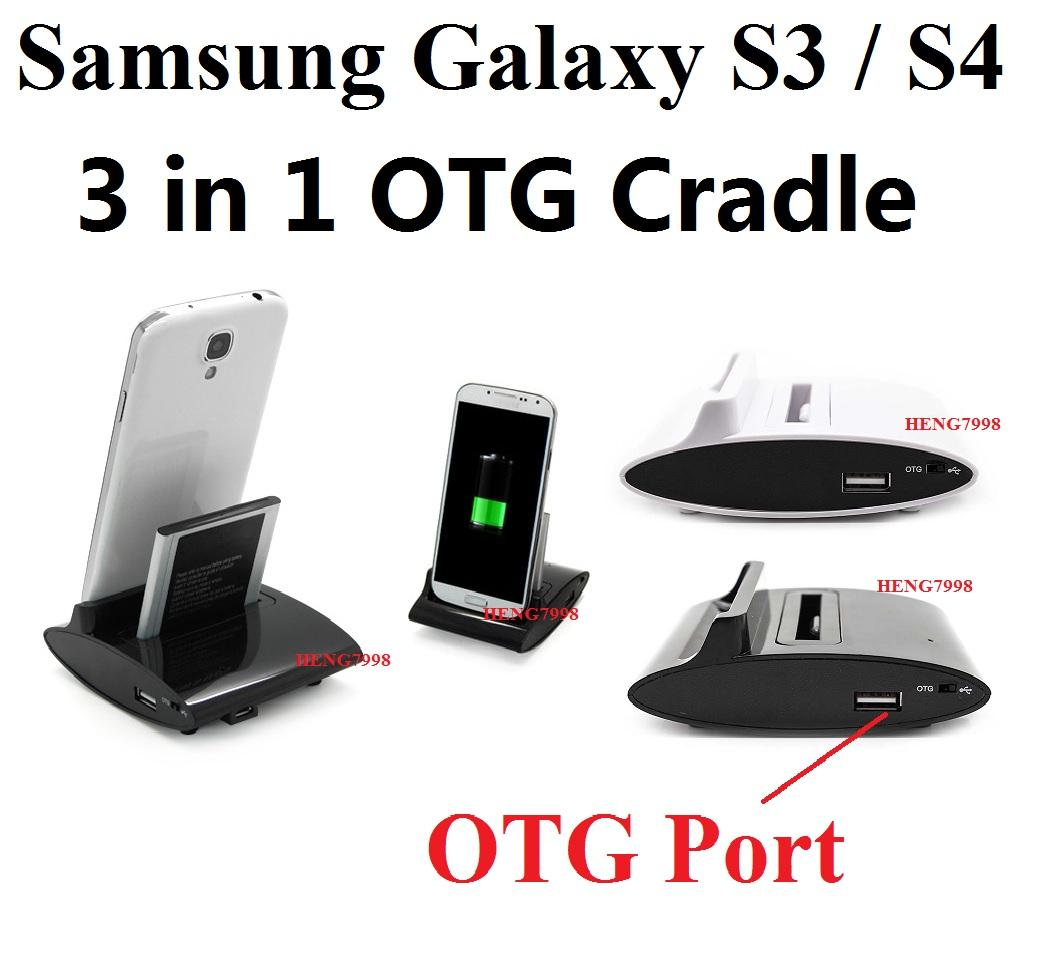 Samsung Galaxy S3 Siii i9300 USB Sync Charger Cradle+ 2300Mah Battery