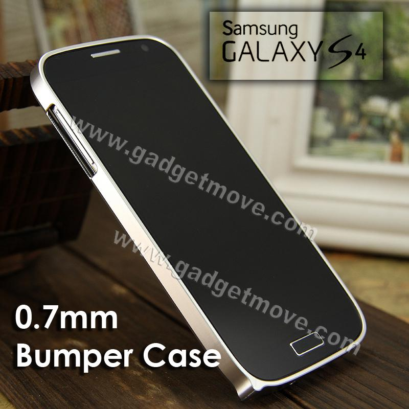 Samsung Galaxy S4 0.7mm Ultra Thin Cross line aluminum metal bumper S