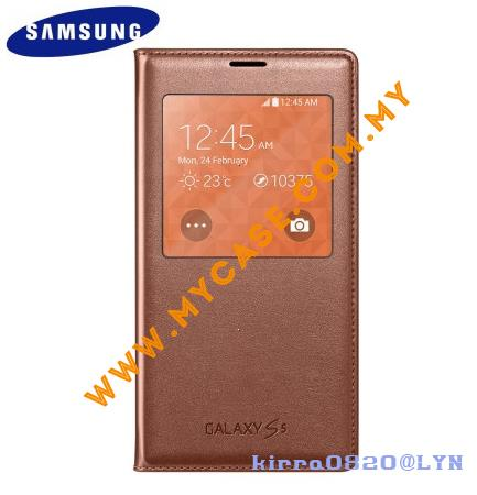 Samsung Galaxy S5 S View Cover Case Rose Gold