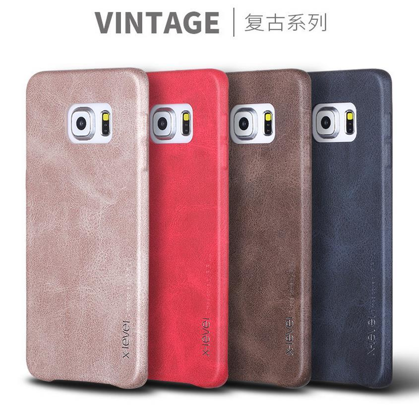 Samsung Galaxy S6 / Edge / Plus Vintage Leather Case Cover Casing