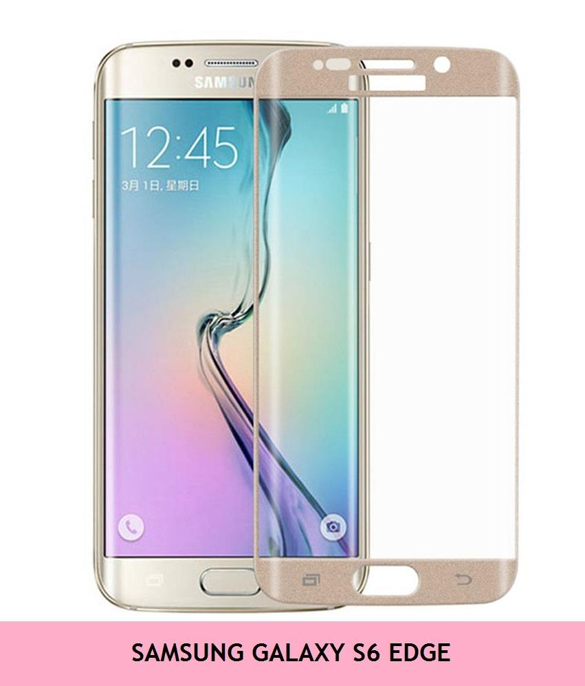 Samsung Galaxy S6 Edge Tempered Glass Screen Protector (Gold)