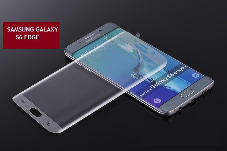 Samsung Galaxy S6 Edge Tempered Glass Screen Protector (Silver)