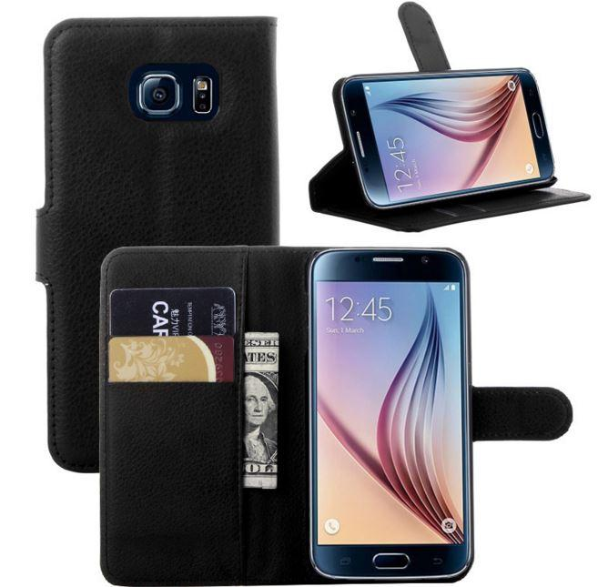 Samsung Galaxy S6 S 6 Flip Leather Stand Wallet Cover Case