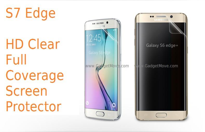Samsung Galaxy S6 S7 Edge + HD Clear Full Coverage Screen Protector SP