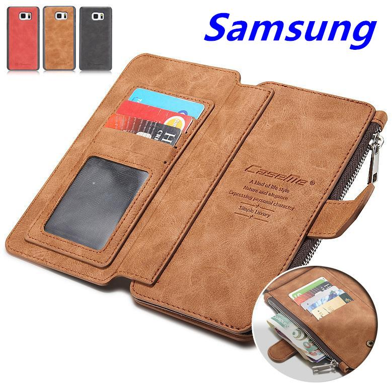 Samsung Galaxy S7 / Edge Card Slot Wallet Clips Bag Case Cover Casing