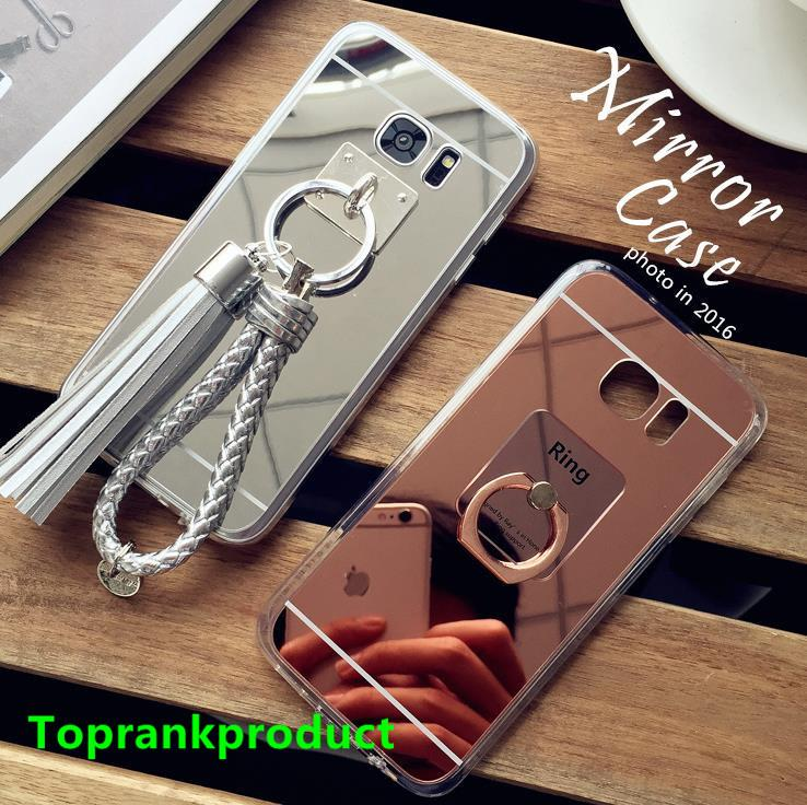 Samsung Galaxy S7 / Edge Mirror Silicone Soft Bumper Case Cover Casing