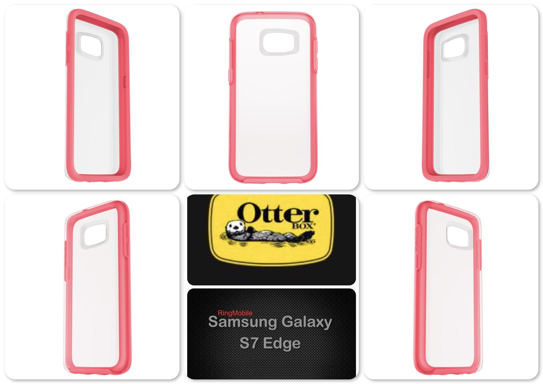 Samsung Galaxy S7 Edge Otterbox Symmetry Clear Series Pink Crystal