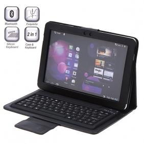 Samsung Galaxy Tab 10.1 BT Bluetooth wireless Keyboard Leather Case P7