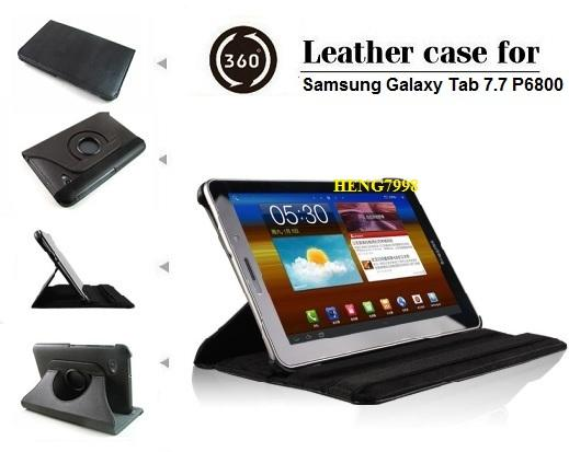 Samsung Galaxy Tab 7.7 P6800/P6810 Leather case(360� rotate)7 Color