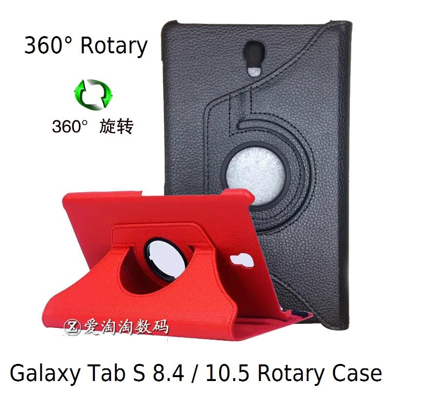 Samsung Galaxy Tab S 8.4 10.5 360 Degree Rotation Rotary Leather Case
