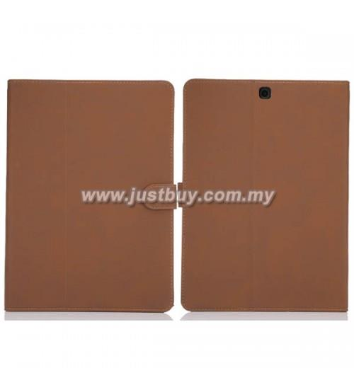 Samsung Galaxy Tab S2 8.0 Matte Leather Case - Brown
