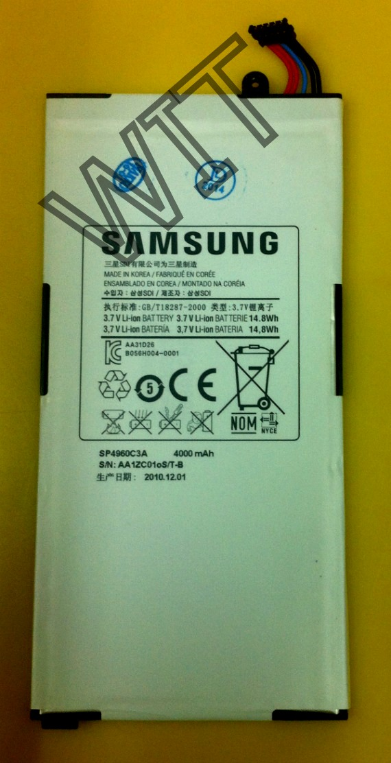 Samsung Galaxy Tab7 7.0 P1000 P1100 P1010 Battery 4000mAh
