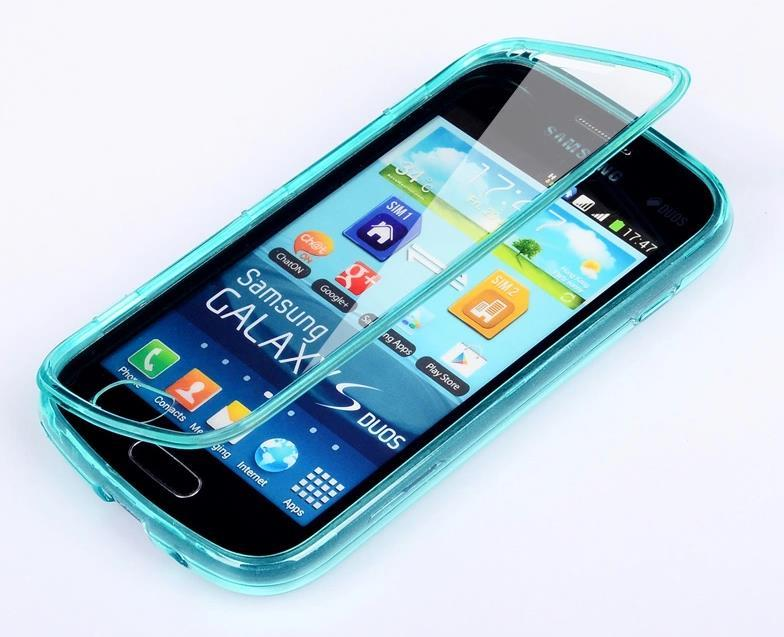 Samsung Galaxy Trend Plus S7580 Transparent Flip Case Cover Casing