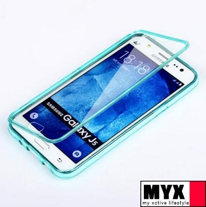 Samsung J5 (2015) Soft Silicone Flip Transparent Casing Case Cover