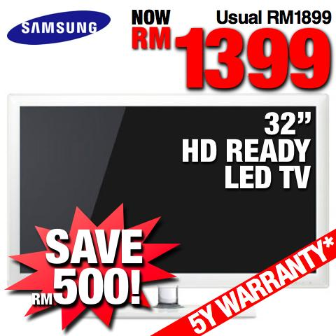 Samsung LED 32� HD Ready LED TV Series 4 (UA32D4010) @RM1499 #