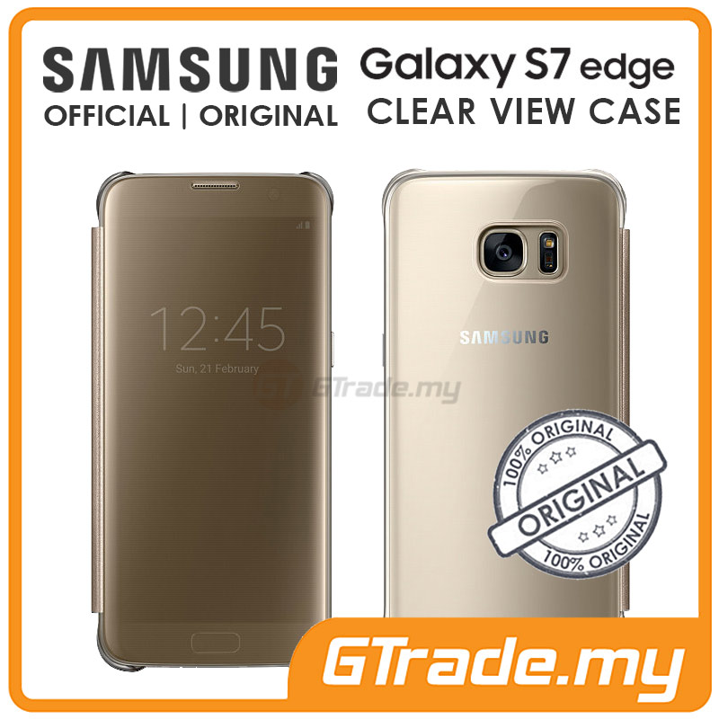 SAMSUNG Official Original Clear View Flip Cover Case Galaxy S7 Edge GD