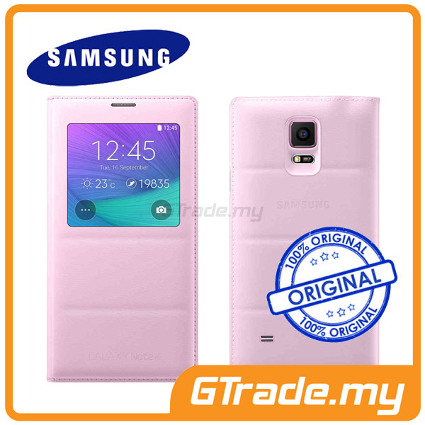 Samsung Original S-View Flip Cover Case | Galaxy Note 4 - Pink