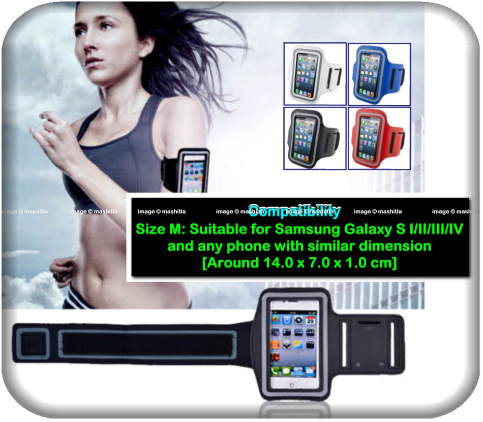 Samsung S2 S3 S4 Sports Armband Mobile Phone Case Cover Pouch Holder A