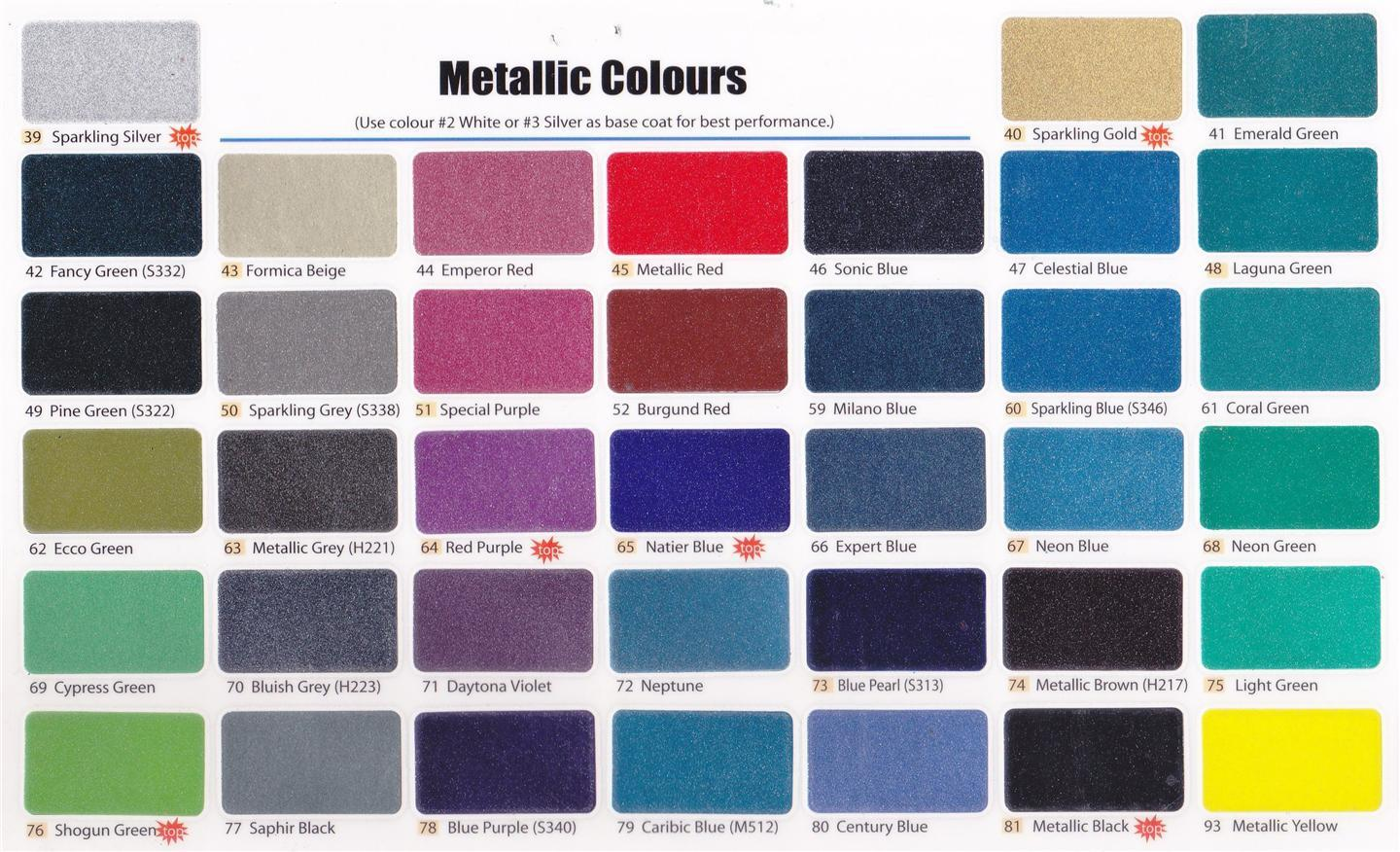 28 car paint color chart malaysia sportprojections