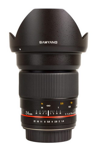 Samyang 24mm f/1.4 ED AS UMC Lens for Sony NEX E-Mount- Free Shipping