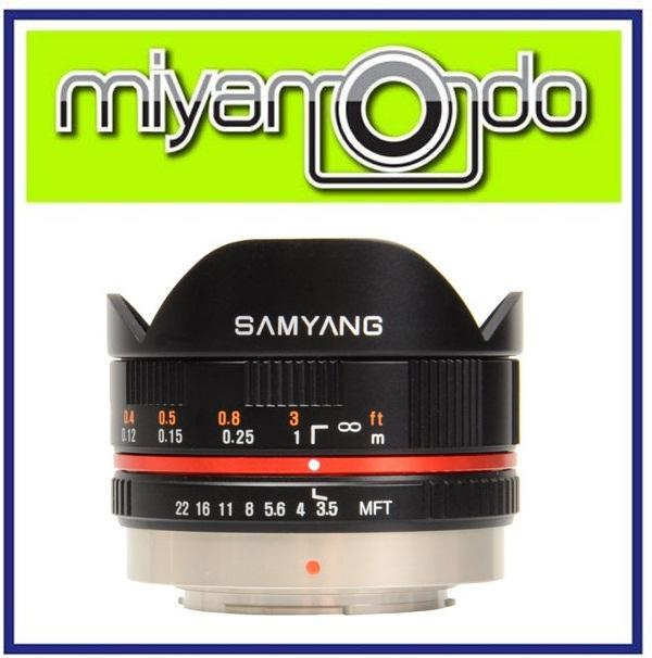 NEW Samyang 7.5mm F/3.5 UMC Fisheye Fish-Eye MFT Micro 4/3 Lens