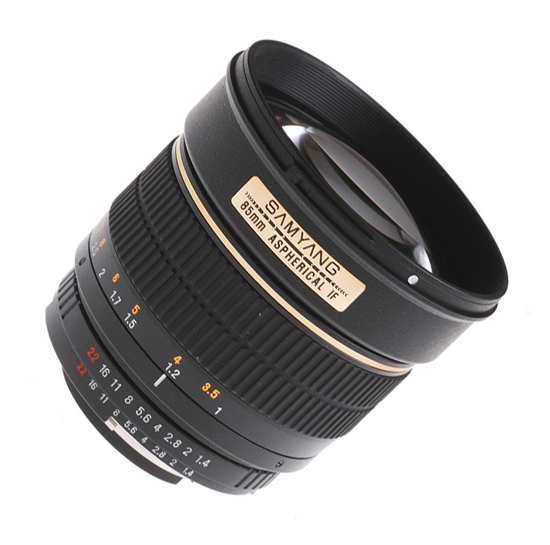 Samyang 85mm f/1.4 Aspherical IF Lens for Olympus 4/3 - Free Shipping!