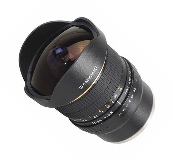 Samyang 8mm f/3.5 IF MC Fish-eye Lens for Pentax K - Free Shipping!!!