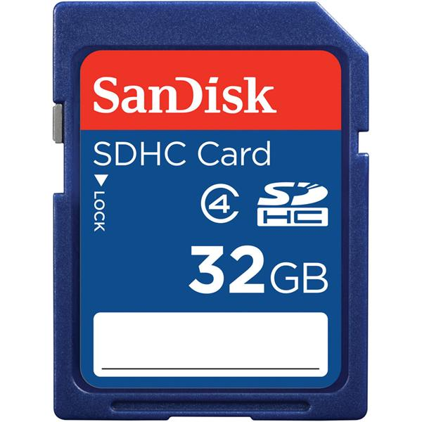 Sandisk 32GB Class 4 SD Memory Card SDHC (Working Used Unit)