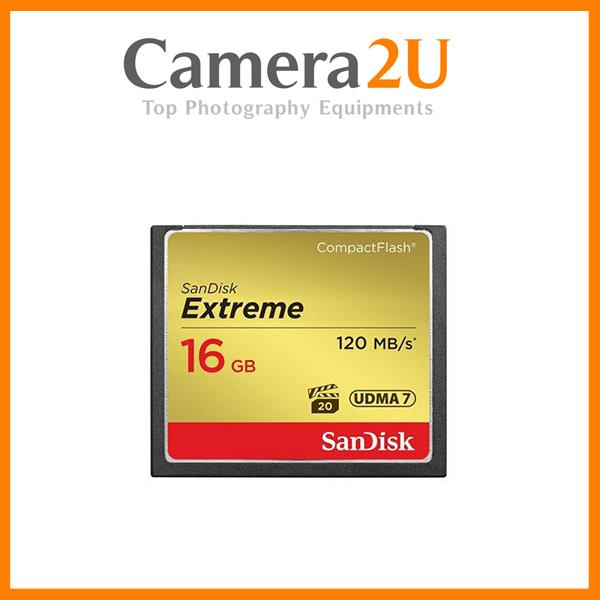 New SanDisk Extreme Compact Flash 16GB CF 120MB /s 800X Memory Card