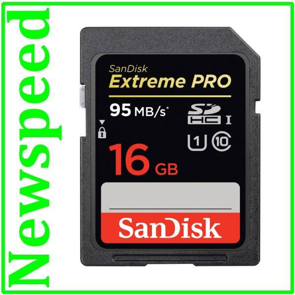 New Sandisk Extreme Pro 16GB Full HD SD Card (95MB/s) SDHC Memory Card