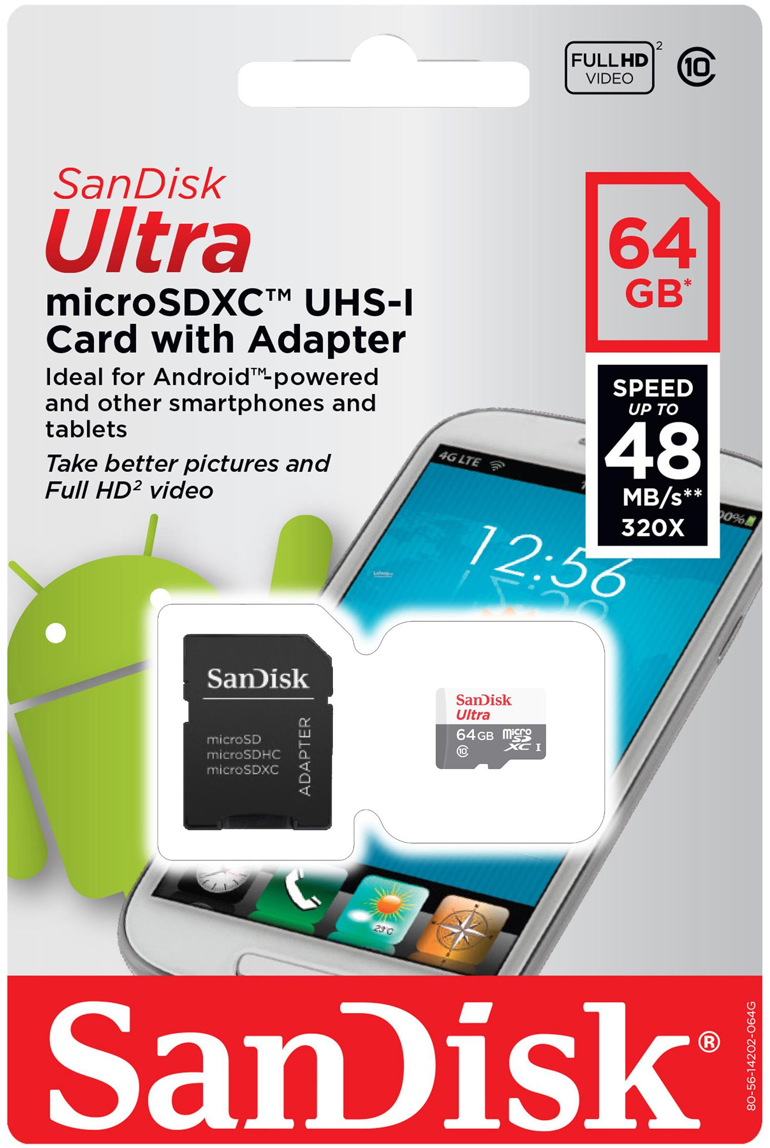 Sandisk Micro SD TF Card Class10 8GB/16GB/32GB/64GB/128G Ultra 80MB/s