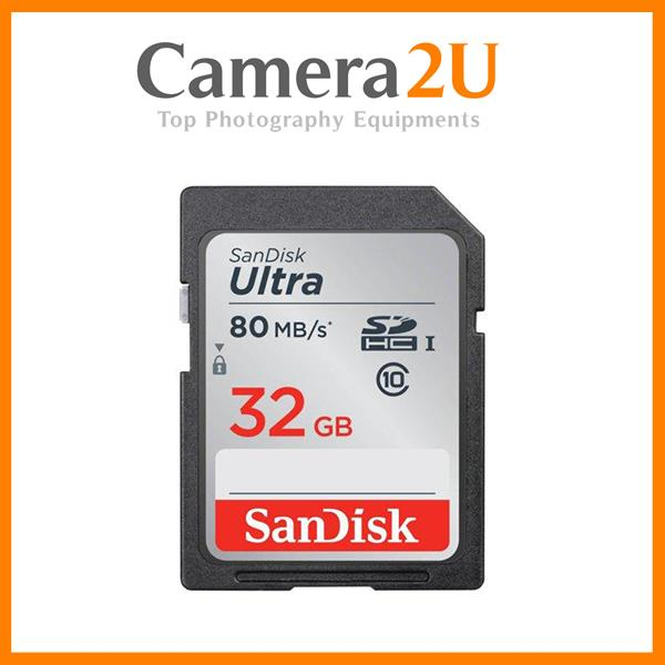 New SanDisk Ultra 32GB SD Card SDHC Memory Card 80MB/s