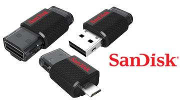 SANDISK Ultra Dual USB 3.0 Micro Flash Drive OTG 16GB
