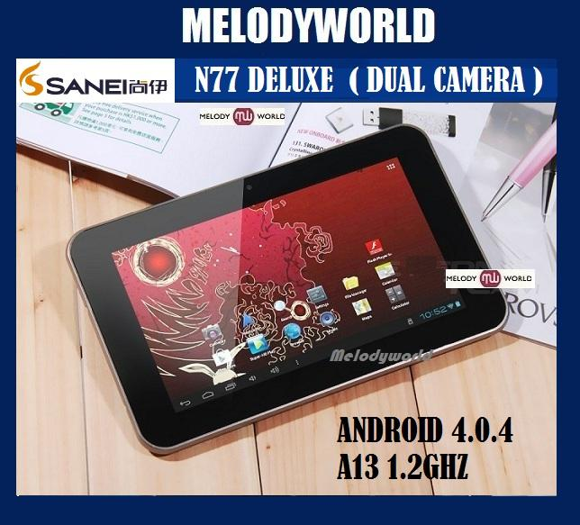 SANEI N77 DELUXE METAL 'DUAL CAMERA' 8GB 7INCH ANDROID 4.0.4 A13  PROC..