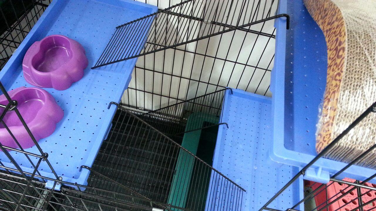 Sangkar Kucing 3 TGK Cat Cage (BIG) Tray Version