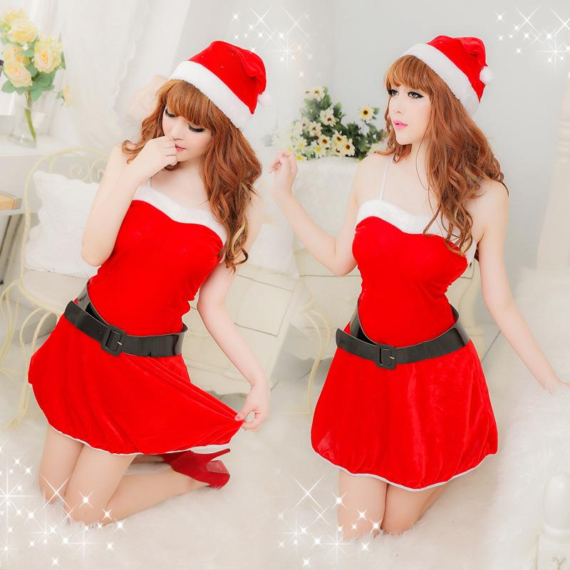 Santa Claus Sweetie Helper Christmas Babydoll Costume #s91SD002