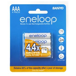 Sanyo eneloop - NiMH rechargeable battery - 4AAA x1 set