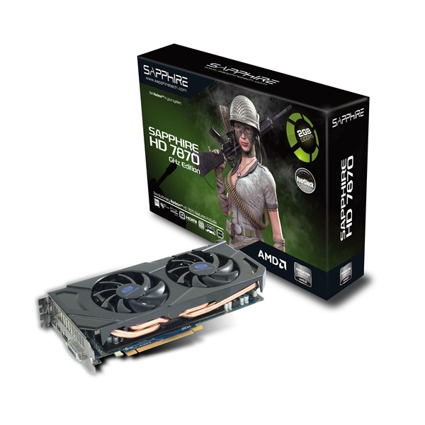 Sapphire ATI HD7870 OC 2GB DDR5 256bit PCI-E Graphic Card 881706262805