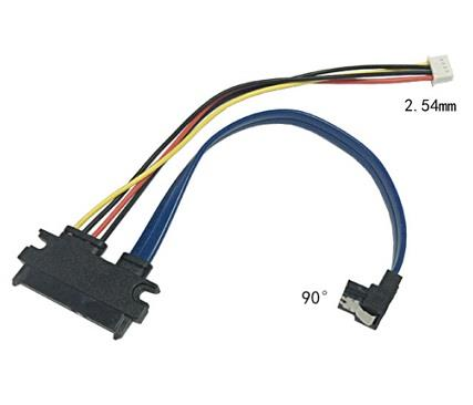 SATA 22pin to SATA 7pin & Small 4pin 2.54mm Power Cable