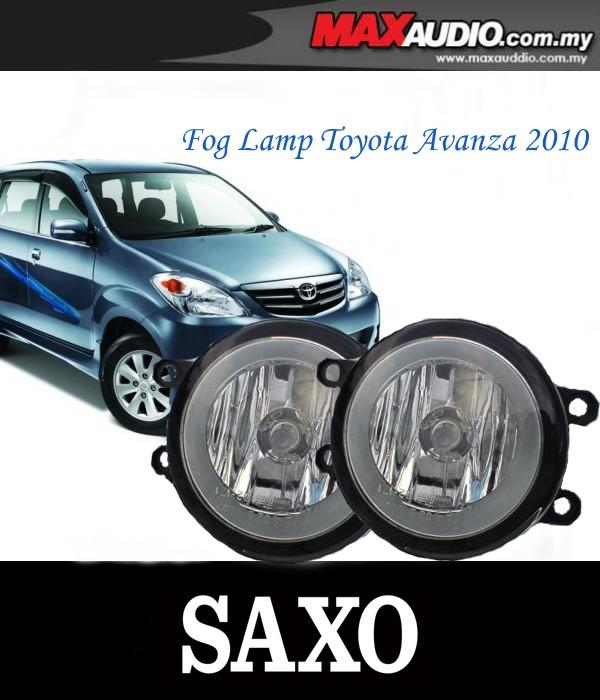 SAXO Fog Lamp Spot Light: TOYOTA AVANZA 2010-2012 Made in Korea