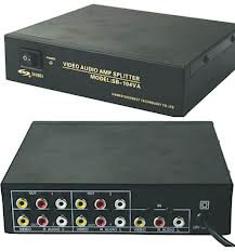 SB-104VA Video+Audio Distributor / Splitter with Amplifier; 1IN 4OUT