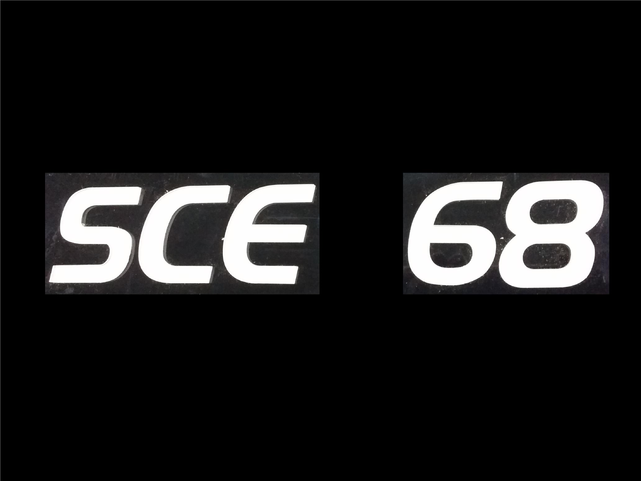 SCE FONT CRYSTAL ACRYLIC CAR NUMBER PLATE SET 2 - 7 ALPHABET