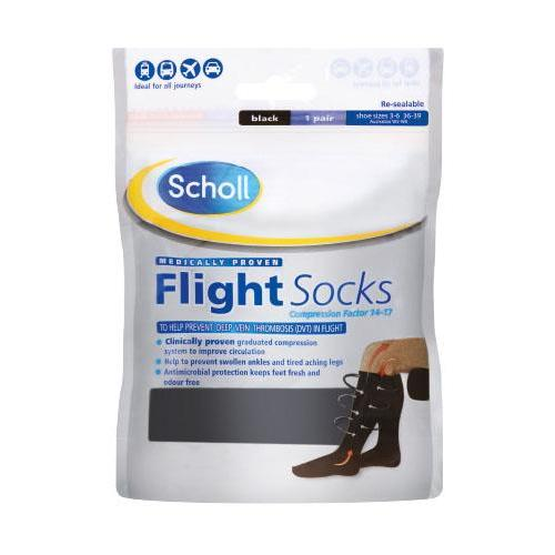 SCHOLL Cotton Feel Flight Socks Size 3-6/6.5-9/9.5-12
