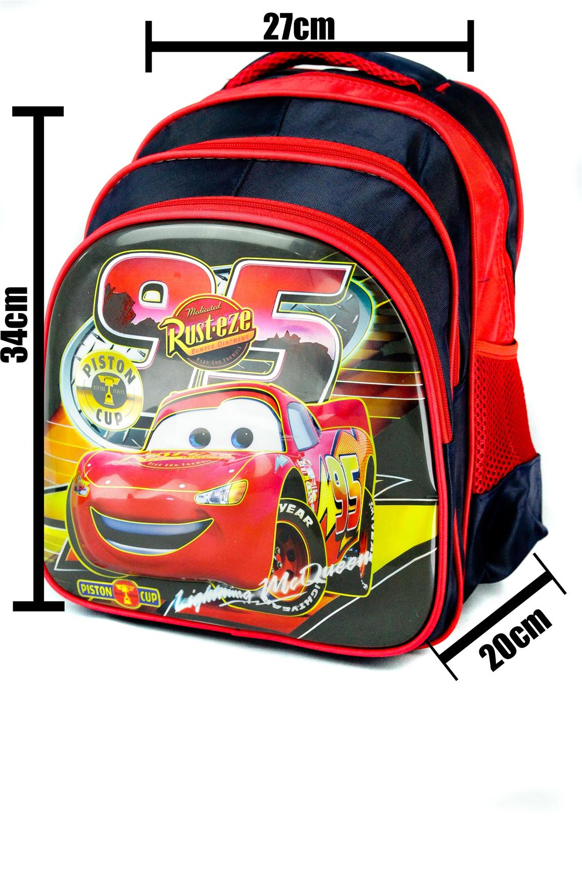 SCHOOL,BAG,SEKOLAH,3D,PRINT,DISNEY,CARS,CAR,MCQUEEN