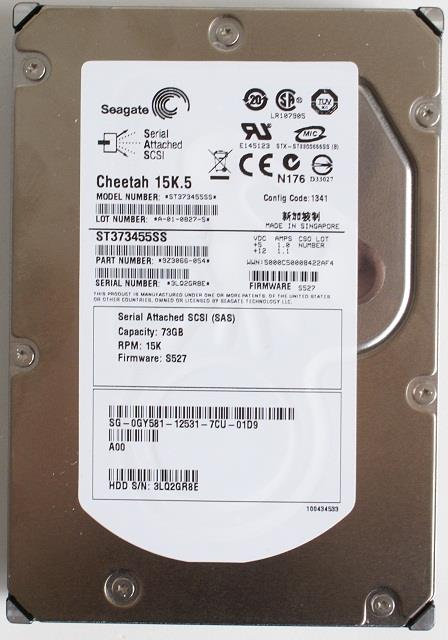 NEW Seagate Cheetah ST373455SS 73GB SAS 15K RPM Internal Hard Drive